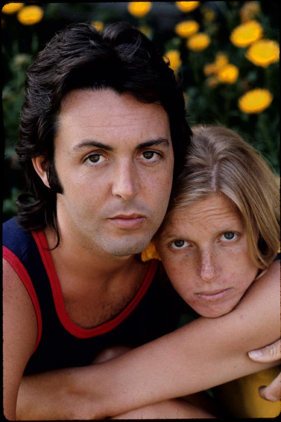 Paul & Linda McCartney by Henry Diltz