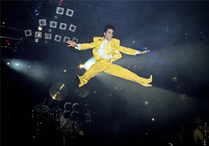 Prince, Jump NYC 1986 by Lynn Goldsmith