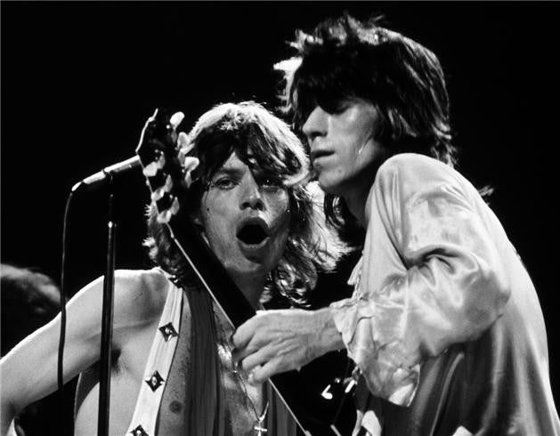 Mick Jagger & Keith Richards, New York 1972 by Bob Gruen