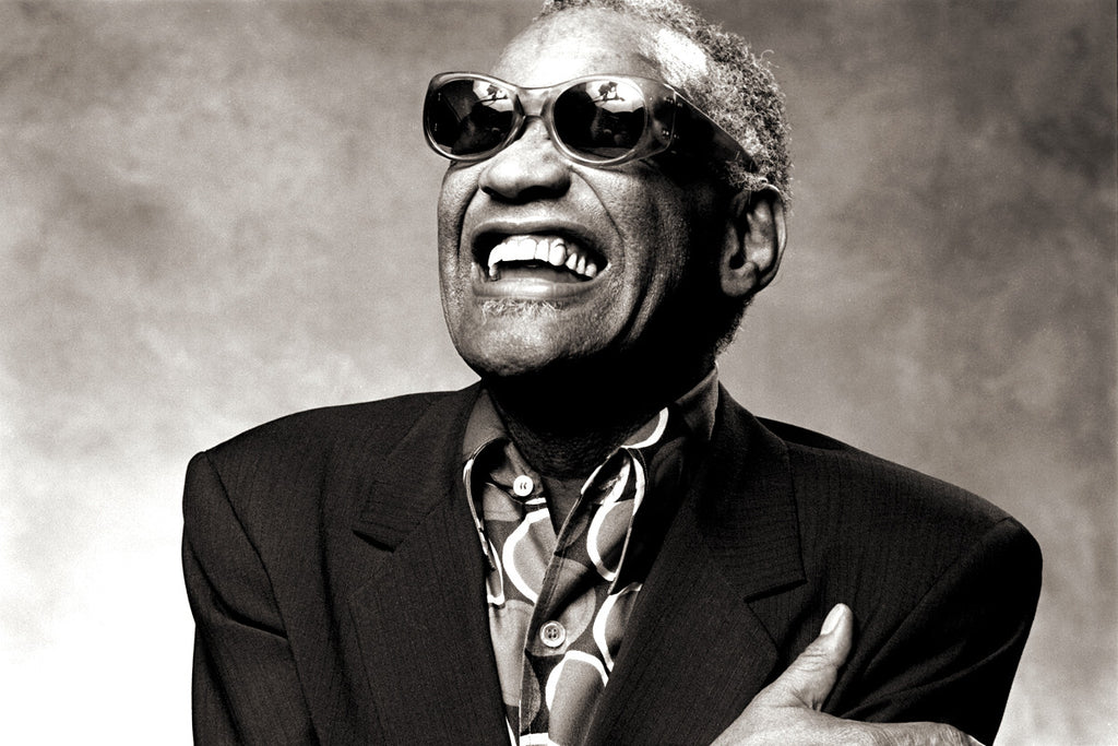 "Ray Charles, Los Angeles 1985, ""Ecstasy"" by Norman Seeff"