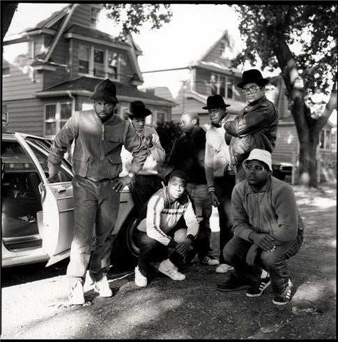 Run DMC & posse Hollis Queens, NYC, 1984 by Janette Beckman