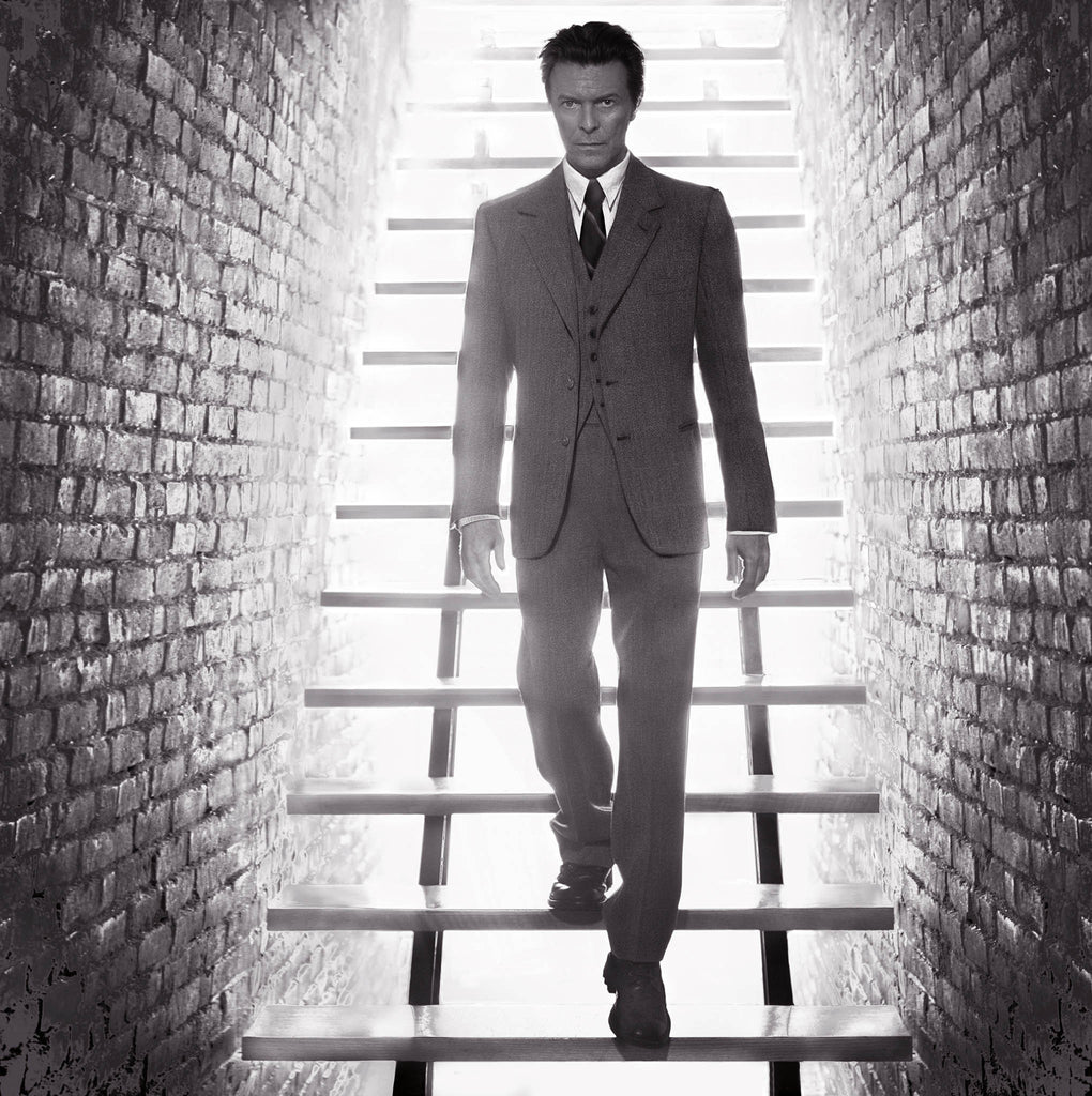 David Bowie, Stairs, 2001 by Markus Klinko