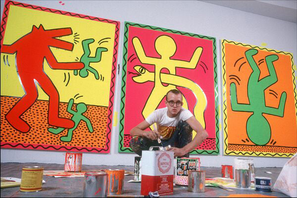 Keith Haring in his studio, NYC 1983 by Allan Tannenbaum