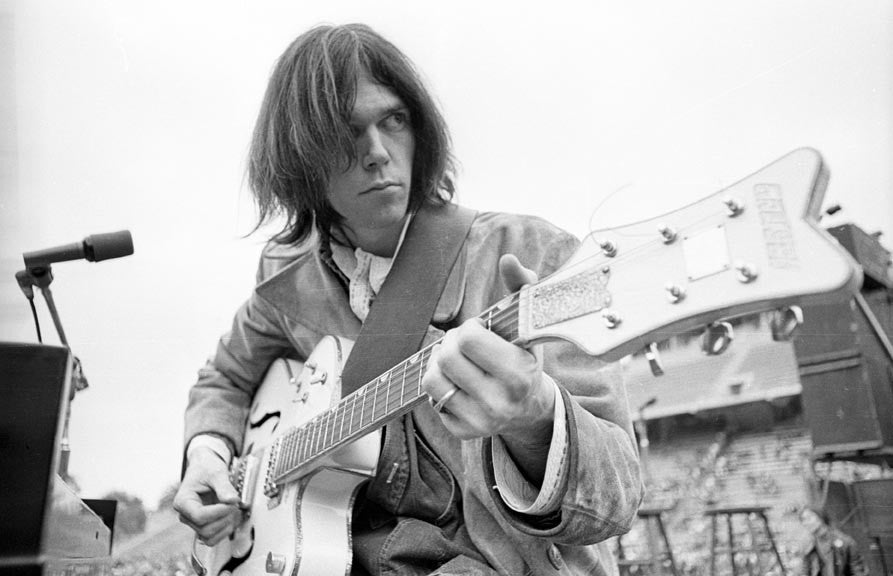 Neil Young, White Falcon by Henry Diltz