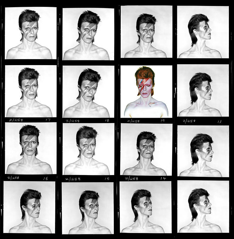 "David Bowie ""Aladdin Sane"", Contact Sheet 1973 by Duffy"