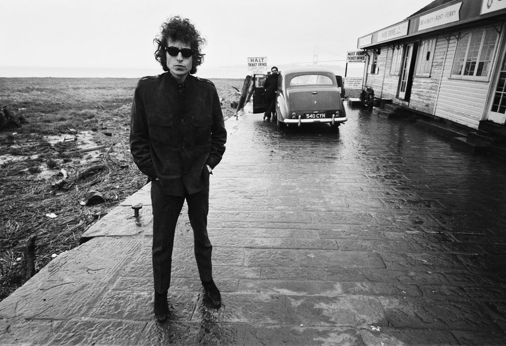 Bob Dylan, Aust Ferry 1966 by Barry Feinstein