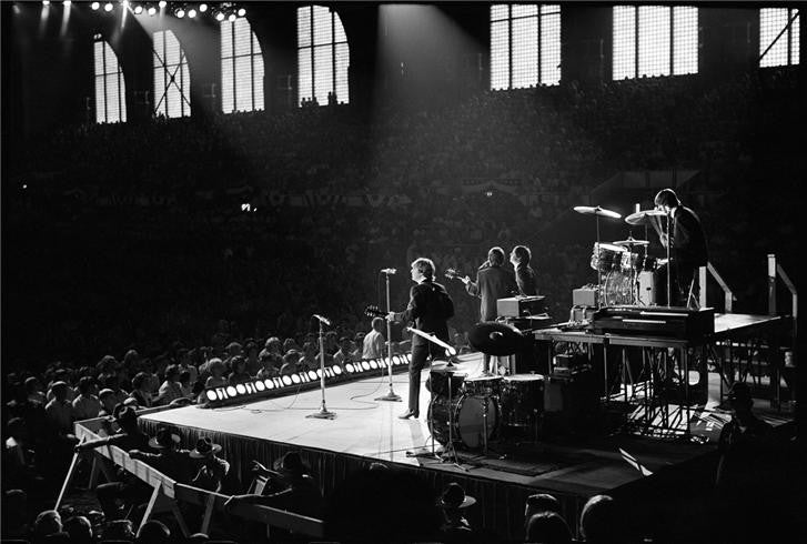 Beatles onstage from behind, 1964 by Curt Gunther