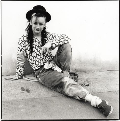 Boy George, Notting Hill Gate, London, England, 1981 by Janette Beckman