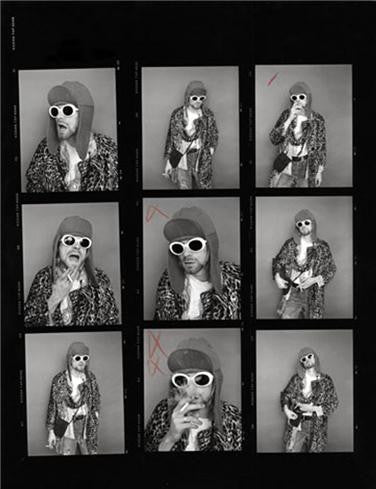 Kurt Cobain, Contact Sheet 4, 1993 by Jesse Frohman