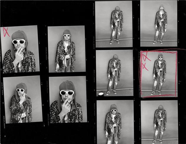 Kurt Cobain, Contact Sheet 1, 1993 by Jesse Frohman