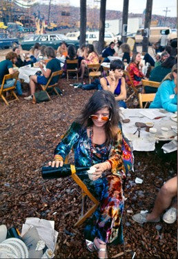 Janis Joplin, Backstage at Woodstock 1969 by Elliott Landy