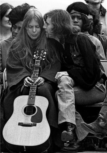 Joni Mitchell and Graham Nash, Big Sur, CA, 1969 by Robert Altman