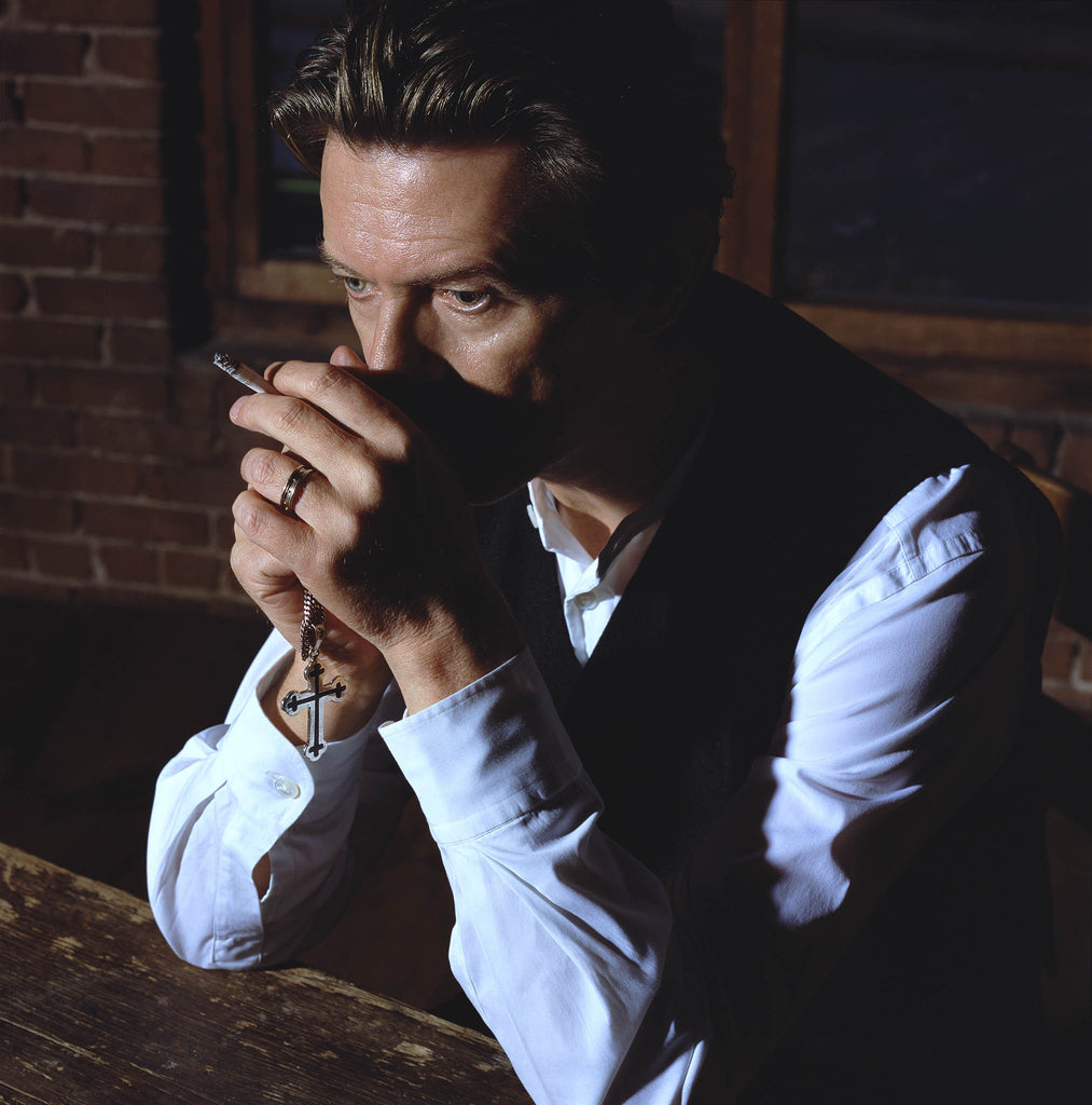 David Bowie, Pen and Cross, 2001 by Markus Klinko
