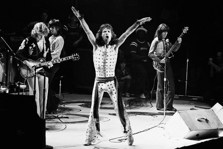 The Rolling Stones, onstage NYC 1972 by Lynn Goldsmith
