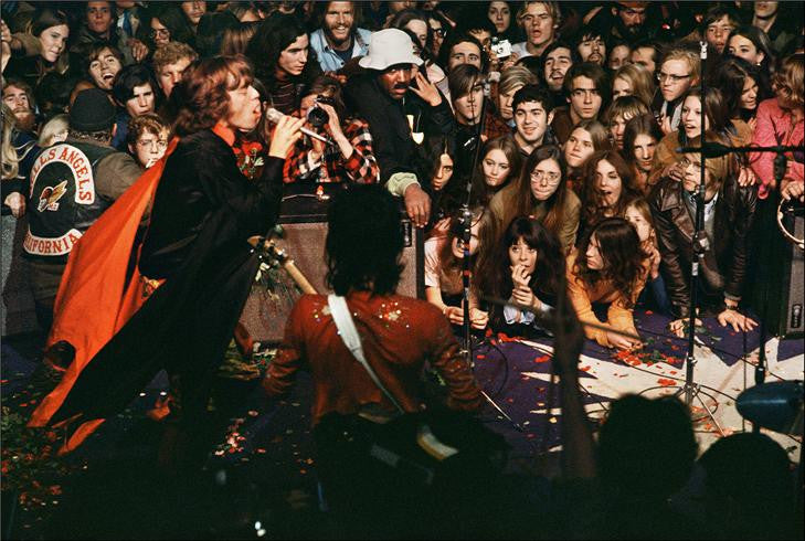 The Rolling Stones onstage at Altamont, 1969 by Ethan Russell