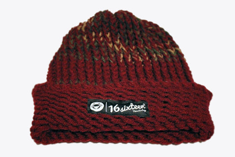 Cuffed Knitted Beanie - Earth Tone