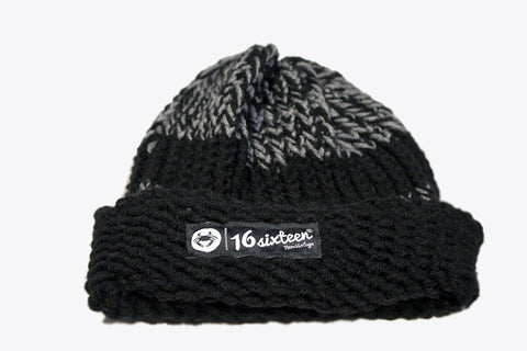 Cuffed Knitted Beanie - Grey