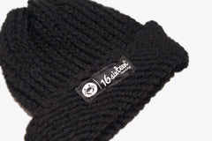 Cuffed Knitted Beanie - Black