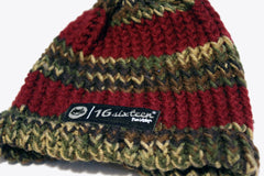 Knitted Beanie - Earth Tone