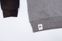 Charm City Crew Crewneck - Black & Gray Colorblock