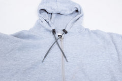 16sixteen Half Crab Zip-up Hoodie - Light Grey