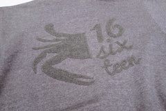 16sixteen Half Crab Zip-up Hoodie - Grey