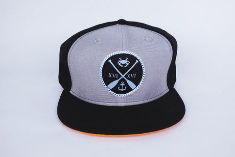Charm City Crew Strapback - Black & Grey