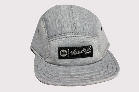 Neoprene 5 Panel Hat - Gray