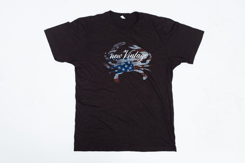 New Vintage Stars and Stripes - Black