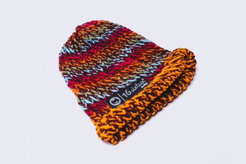 Knitted Beanie - Multi-colored