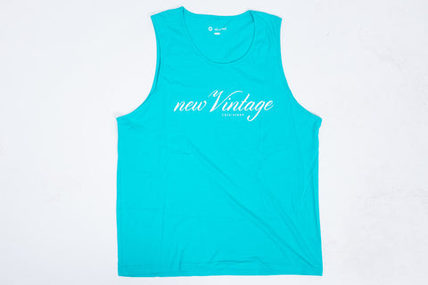 New Vintage Tank - Turquoise