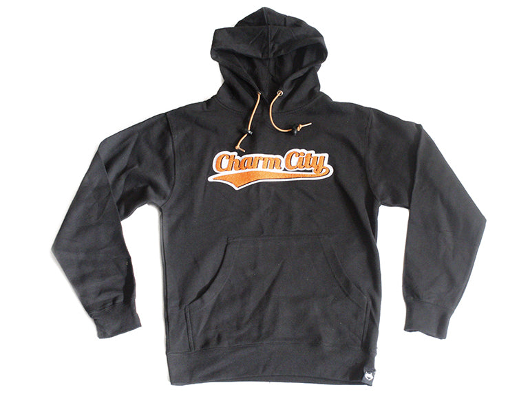 Charm City Crew Pullover Hoodie - Black
