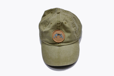 Olive Blue Crab - Dad Hat