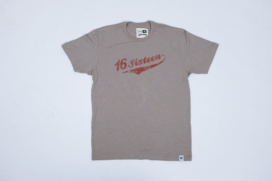 16Sixteen Baseball Logo - Grey