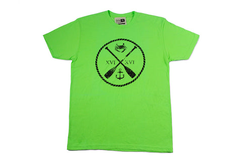 Charm City Crew T-shirt - Green & Black