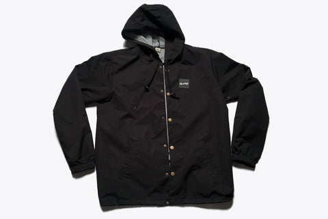 Hooded Coach's Jacket - Black