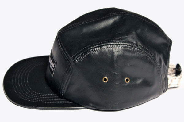 2e824a4c250cb Leather 5 Panel Hat - Black – 16sixteenlife