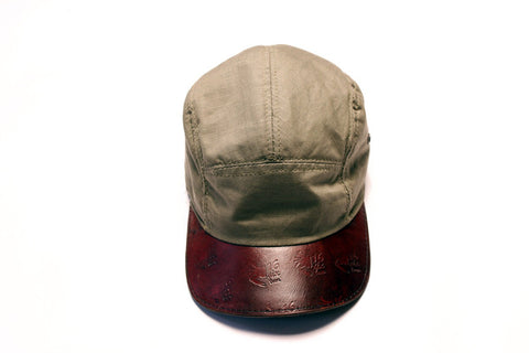 Ripstop & Leather 5-Panel Camper