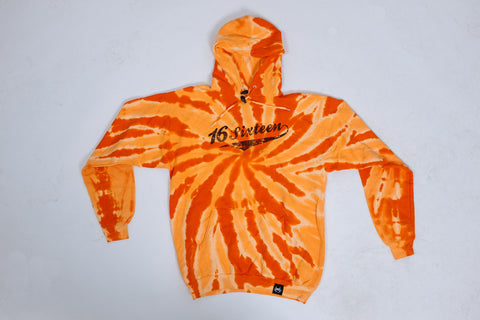 New Vintage Tie-Dye Hoodie - Orange