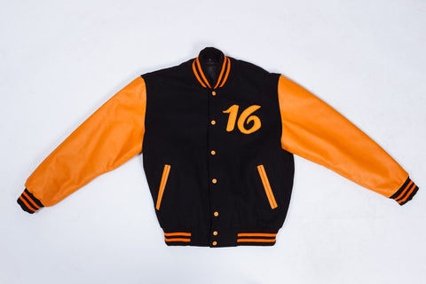 Varsity Jacket - Orange (Pre-Order)