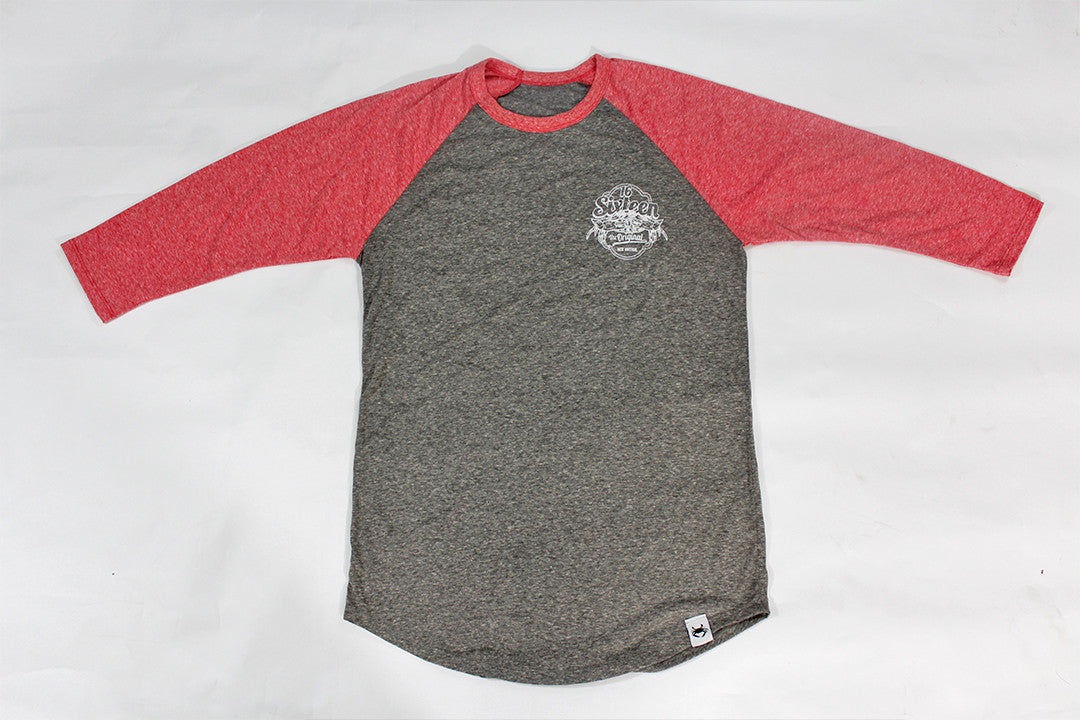 16Sixteen 3/4 Raglan - Red, Gray