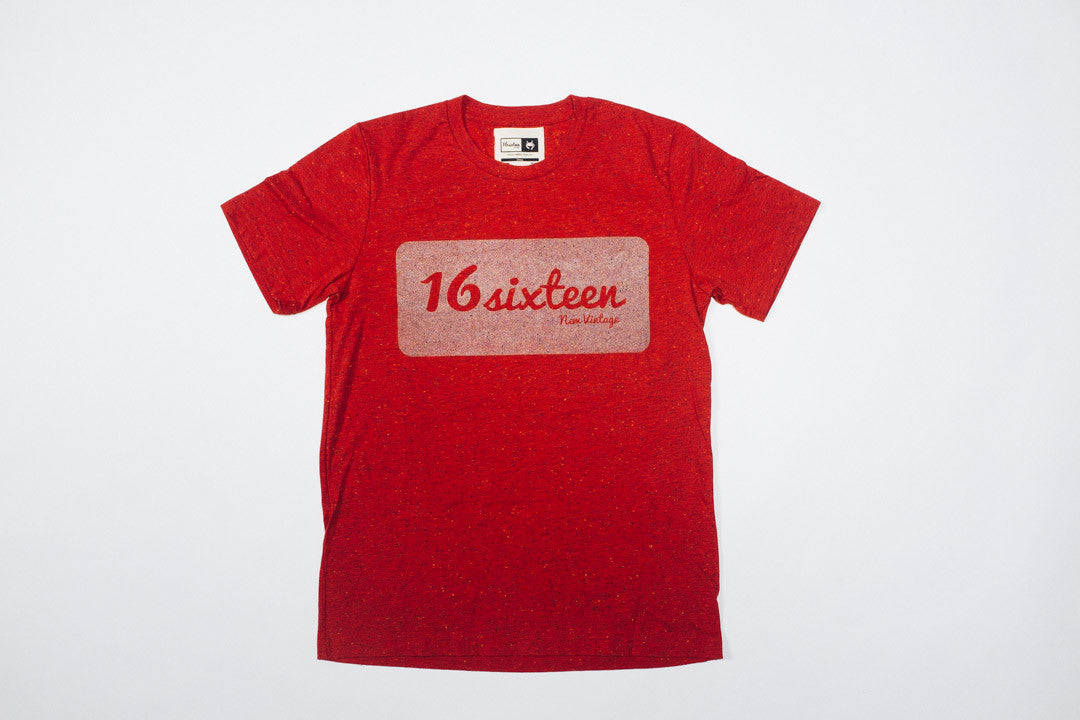 16Sixteen Speckled 3M Box Logo - Red