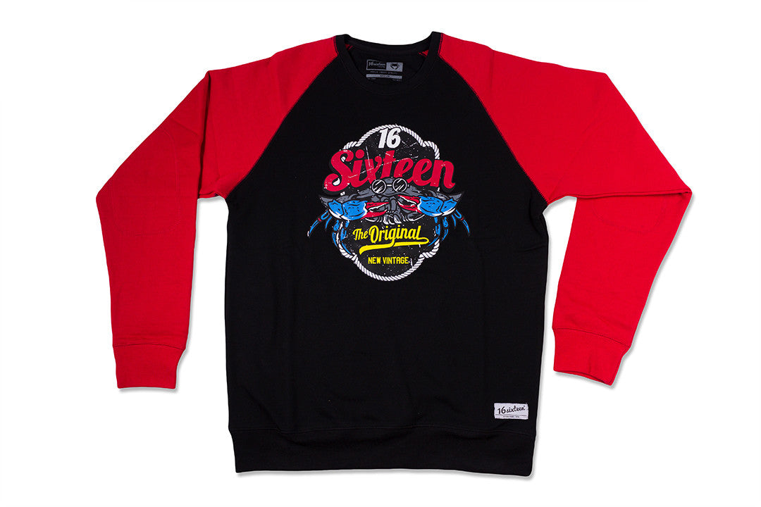 Original Logo Crewneck - Black & Red