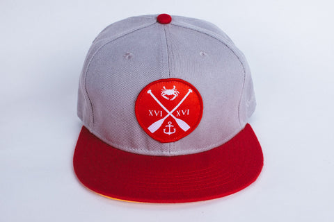 Charm City Crew Strapback - Grey & Red