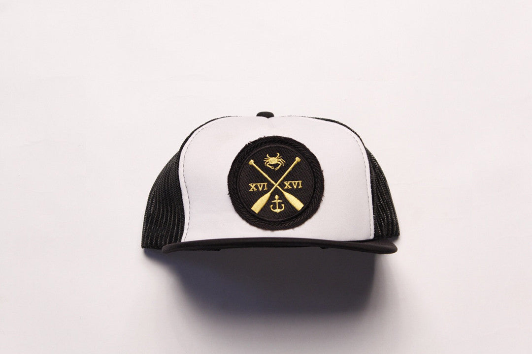 Charm City Crew Trucker Hat - Black & White