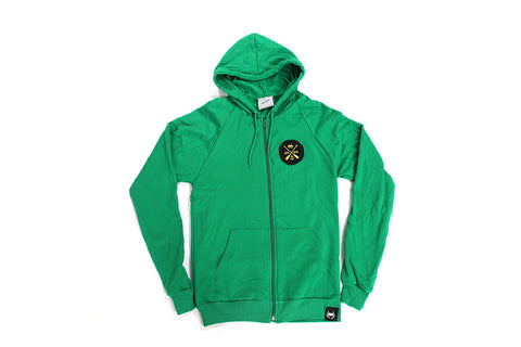Charm City Crew Zip-Up Hoodie - Kelly Green