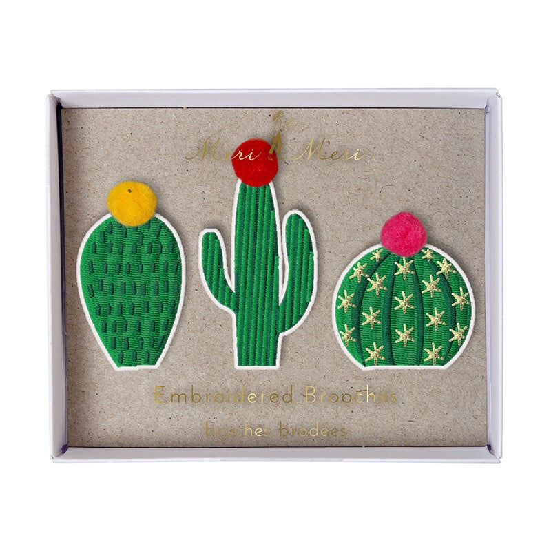 Embroidered Brooches | Cactus