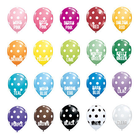 "11"" Polka Dot Balloons in store"