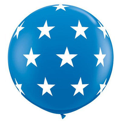 "36"" Round Star Balloon - Blue"