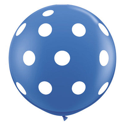 "36"" Round Polka Dot Balloon - Dark Blue"